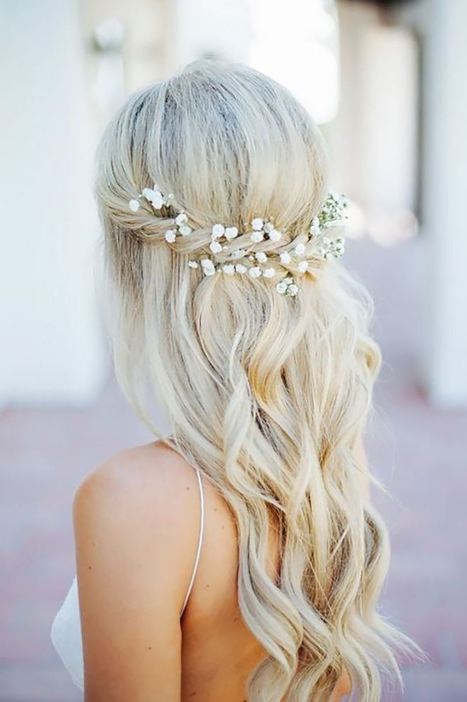 See The Perfect Half Updo Wedding Hairstyles If So That Is Right Ideas Relatin Half Updo Hairstyles Wedding Guest Hairstyles Wedding Hairstyles For Long Hair
