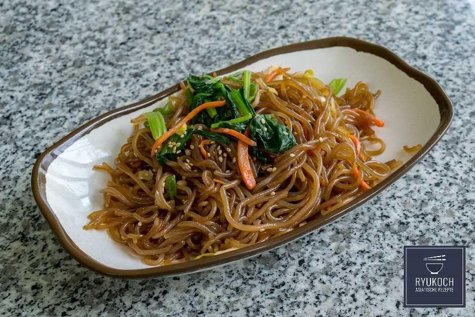 étonnant  Mot-Clé Japchae angebratene Glasnudeln Rezept ✪ japanische & koreanische Rezepte