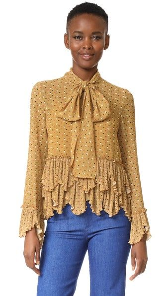 cc23926e67 SEE BY CHLOÉ Printed Ruffle Blouse.  seebychloé  cloth  dress  top  shirt   sweater  skirt  beachwear  activewear