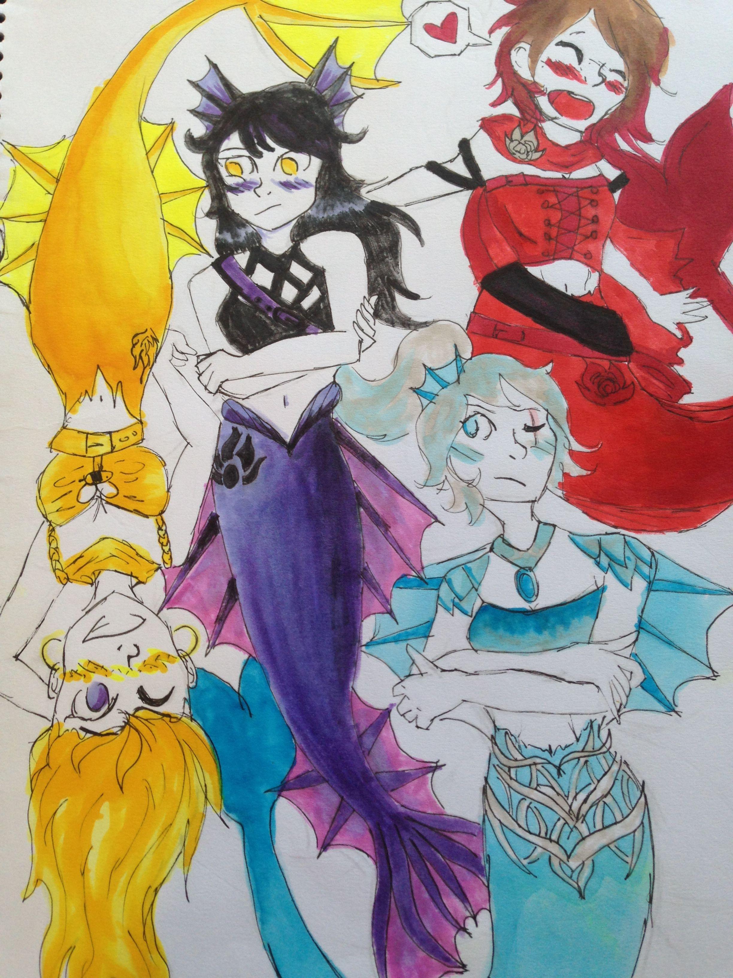 RWBY mermaid au | RWBY | Rwby, Mermaid, Princess zelda