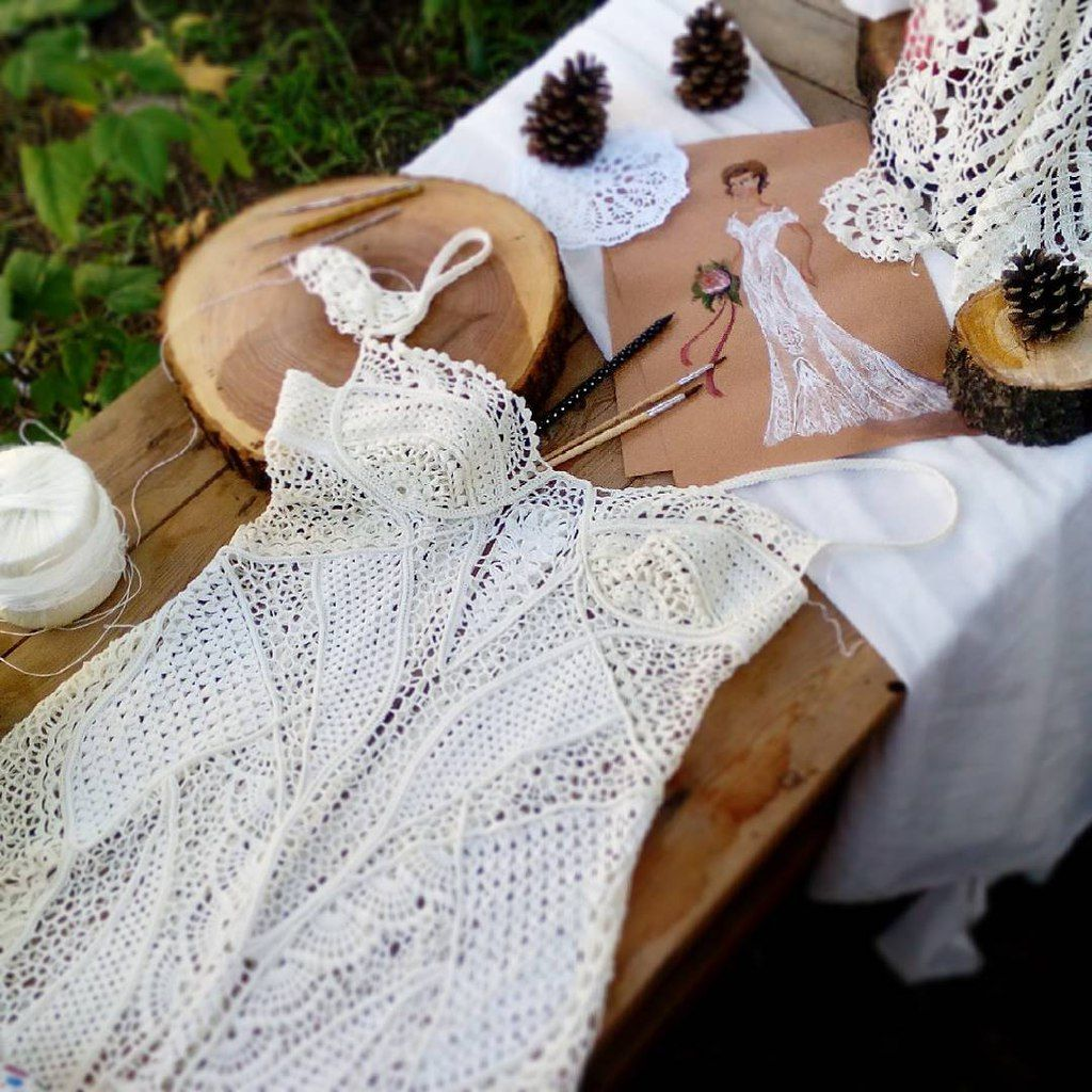 crochet dress by Anna Radaeva