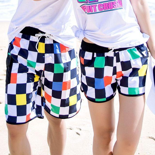 277891b060cc3 Couple Shorts 2018 New Fashion Hawaii Summer Board Shorts Lovers Swimwear  Beach Surfing Men/Women