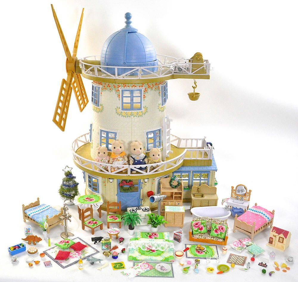 Sylvanian Families Decorated Fieldview Windmill/House Furniture ...