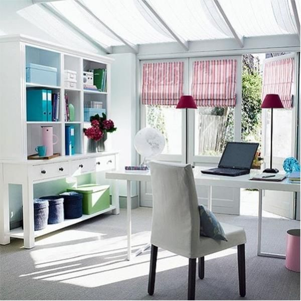 Feminine Style Homeoffice Decor Decor Advisor SHE SHED IDEAS Cool At Home Office Ideas