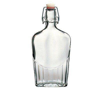 Amazon.com: Bormioli Rocco Wire Bail 17 Ounce Glass Pocket Flask: Kitchen & Dining