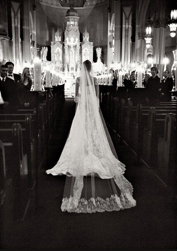 Bridal Entrance Look At That Veil And The Church