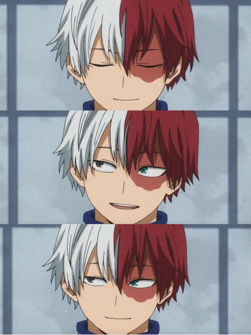 shouto todoroki smiling wallpaper in 2020 Cute anime