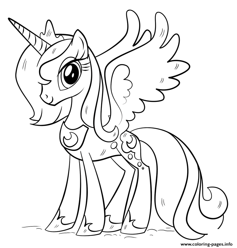 Print Princess Luna My Little Pony Coloring Pages Unicorn Coloring Pages My Little Pony Coloring Mermaid Coloring Pages