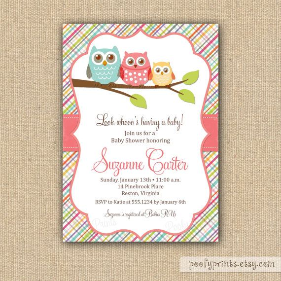 Owl baby shower invitations for baby girl baby shower pinterest items similar to owl baby shower invitations diy printable baby girl shower invitations on etsy solutioingenieria Choice Image