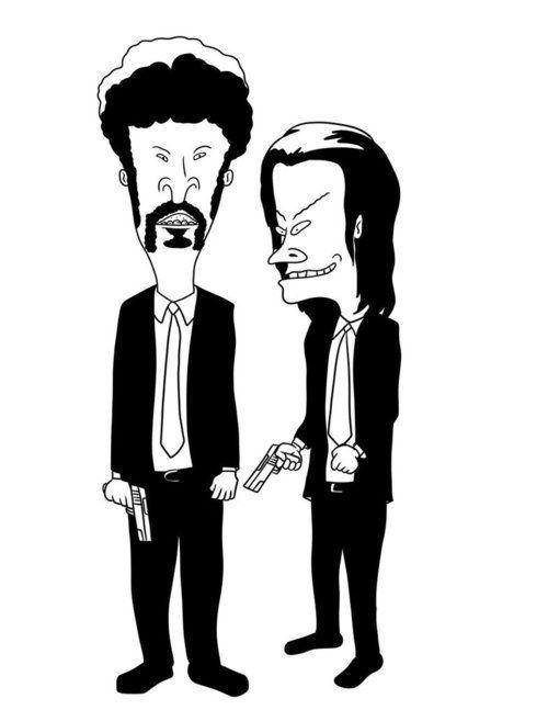 Pulp Fiction meets Beavis and Butthead (: