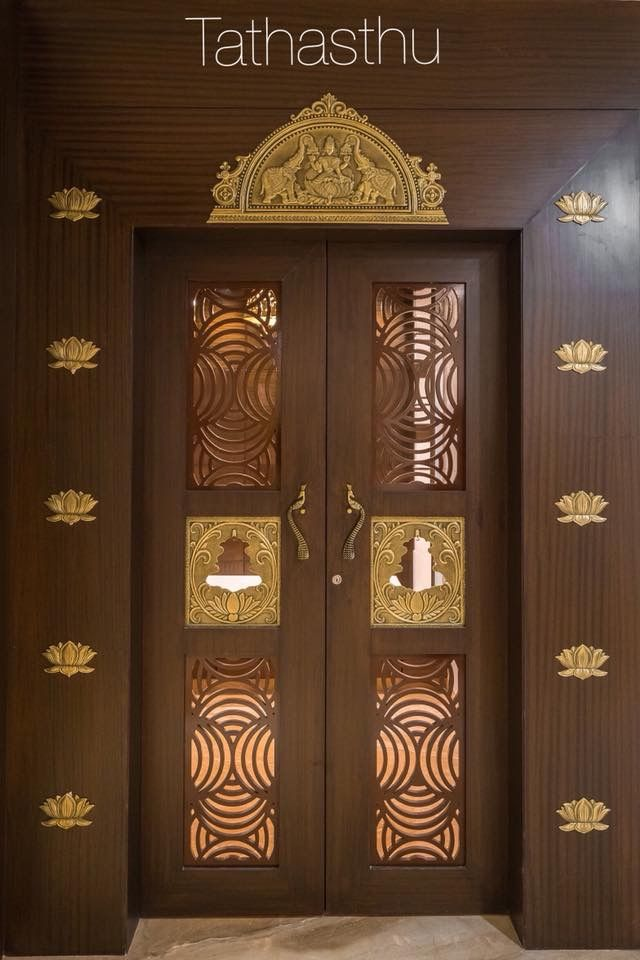 Devghar doors stonehenge designs pooja space also lattice that make your room look more attractive rh pinterest