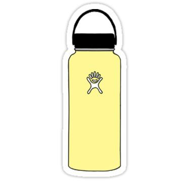 Yellow Hydro Flask Sticker Hydroflask Stickers Bubble Stickers Iphone Case Stickers