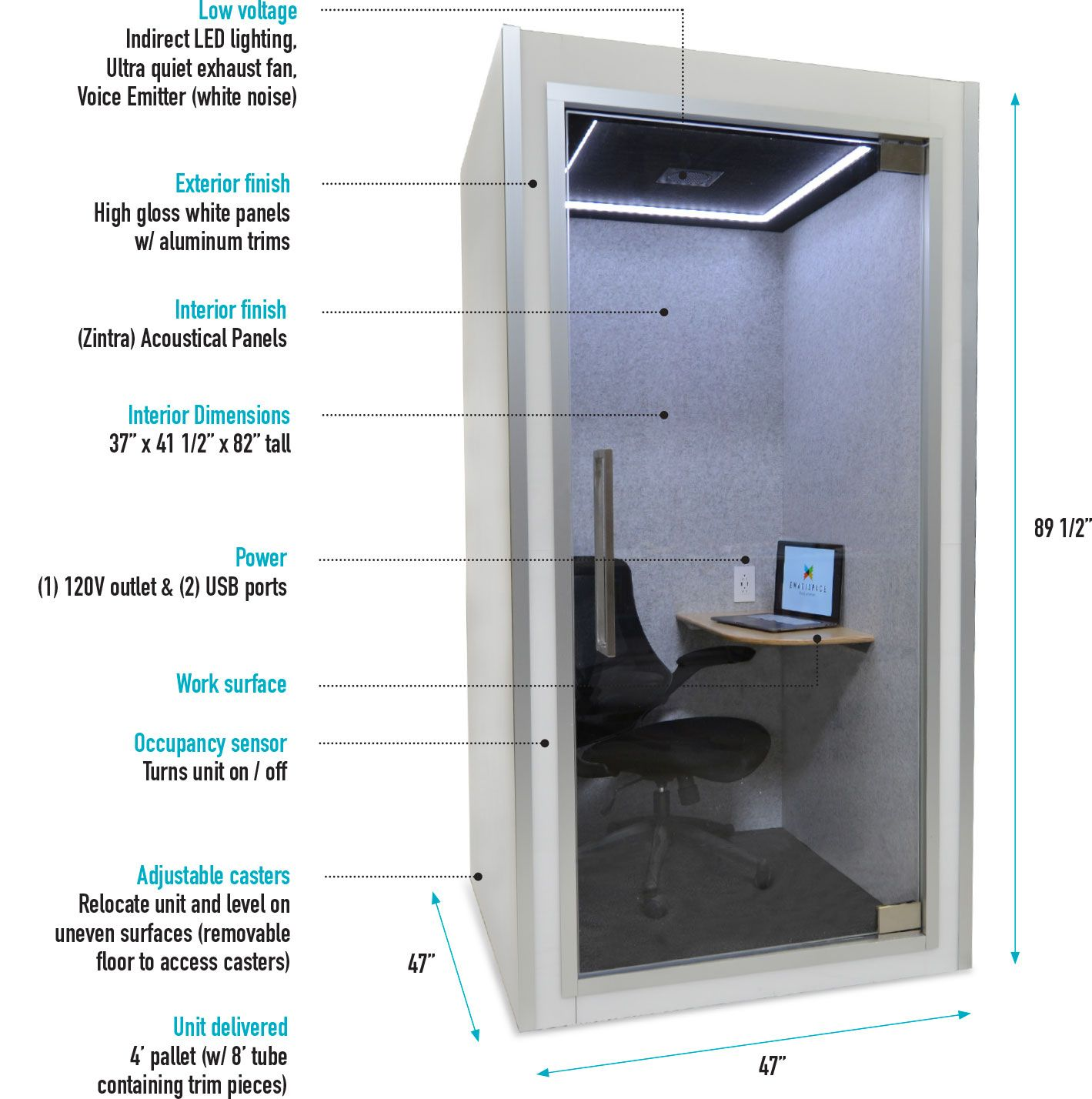 Privacy Pod Picture With Details