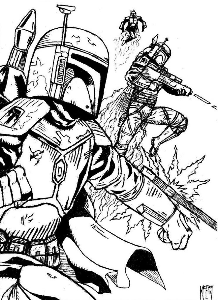 Boba Fett Coloring Pages Star wars coloring book