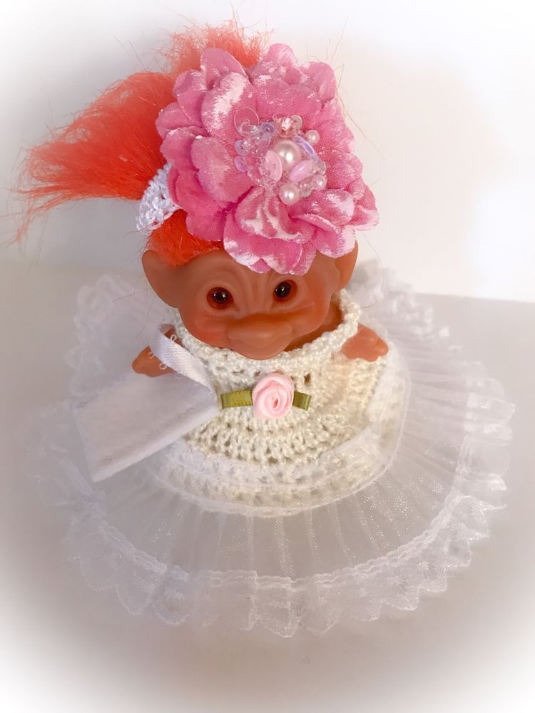 """Troll Doll Clothes Crochet Outfit for 2 3/4"""" or 3"""""""