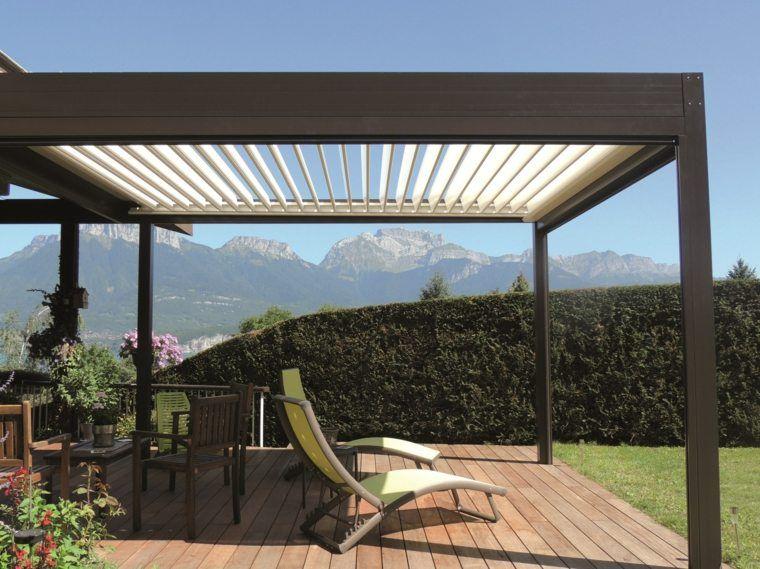 Tonnelle De Jardin Design Les Modeles Qui Nous Font Craquer Jardins Et Terrasses Pergola Moderne Tonnelle Jardin Et Pergola Bioclimatique