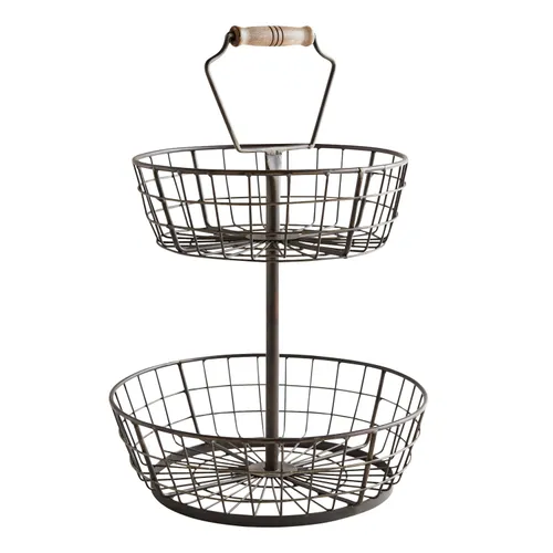 Black Wire 2 Tiered Server In 2020 Tiered Server Tiered Basket Stand Tiered