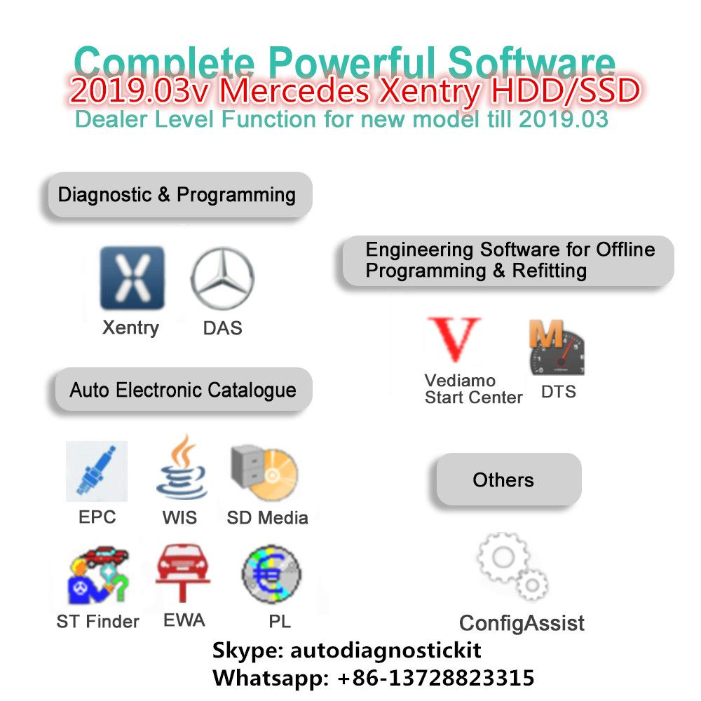 MB Star Diagnostic Xentry Software 2019 07 Version Win7