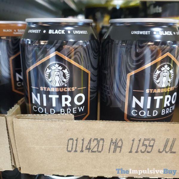 SPOTTED: Starbucks Nitro Cold Brew (Black, Vanilla Sweet ...