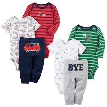 dc0b692ee Carter's Boys' 3-piece Layette Set 2-pack, Firetrucks and Dogs ...