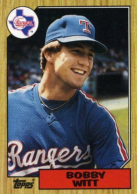 RARE 1987 TOPPS BOBBY WITT TEXAS RANGERS MINT- Was able to see a few Ranger  games in late 80's.