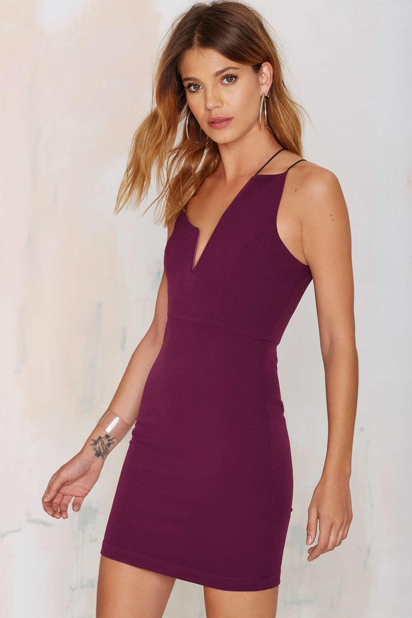 Nisha Mini Dress - Plum  99ff7319390d