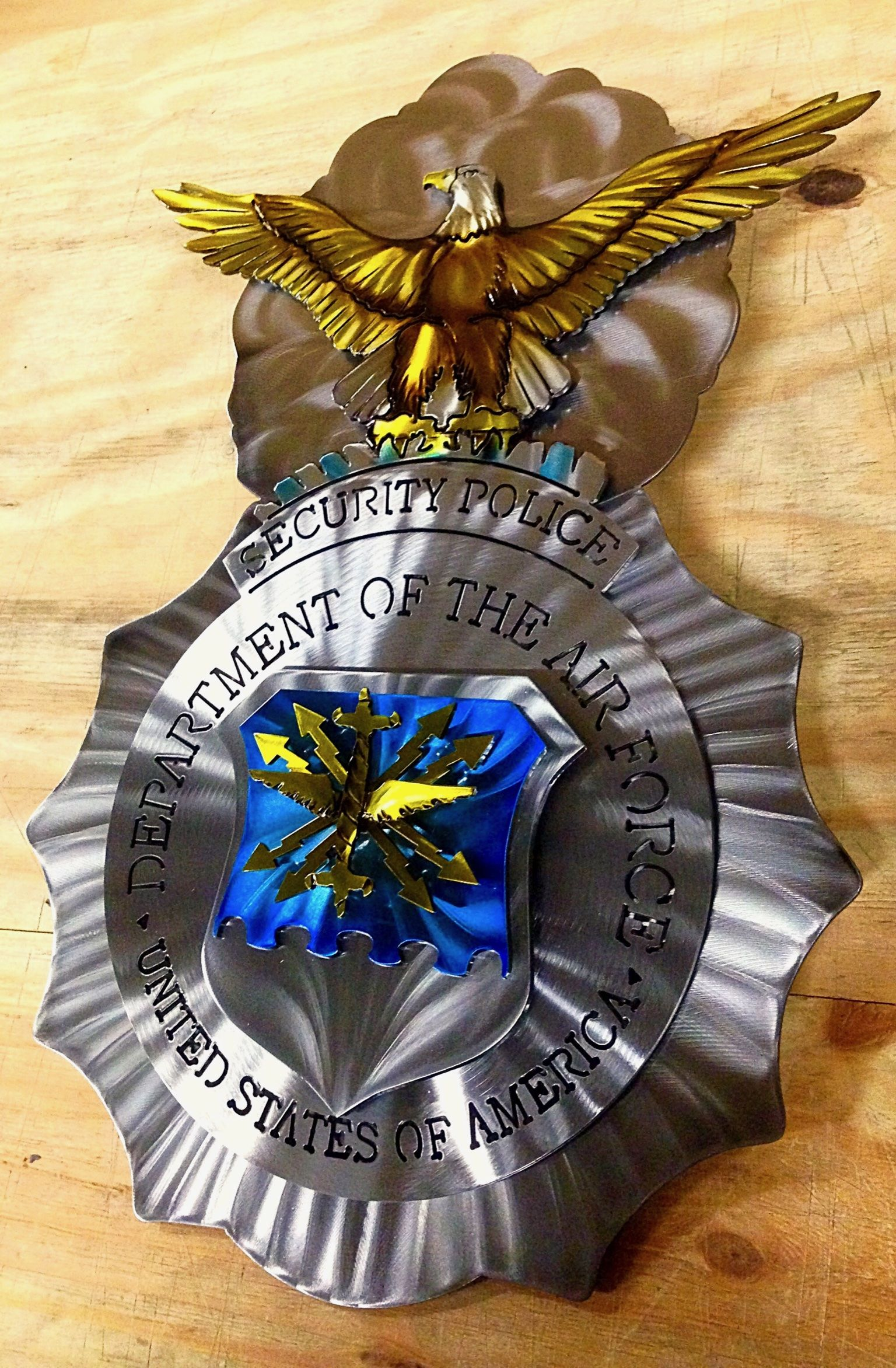 """Originally known as the """"Air Police Shield"""", the Air Force ..."""