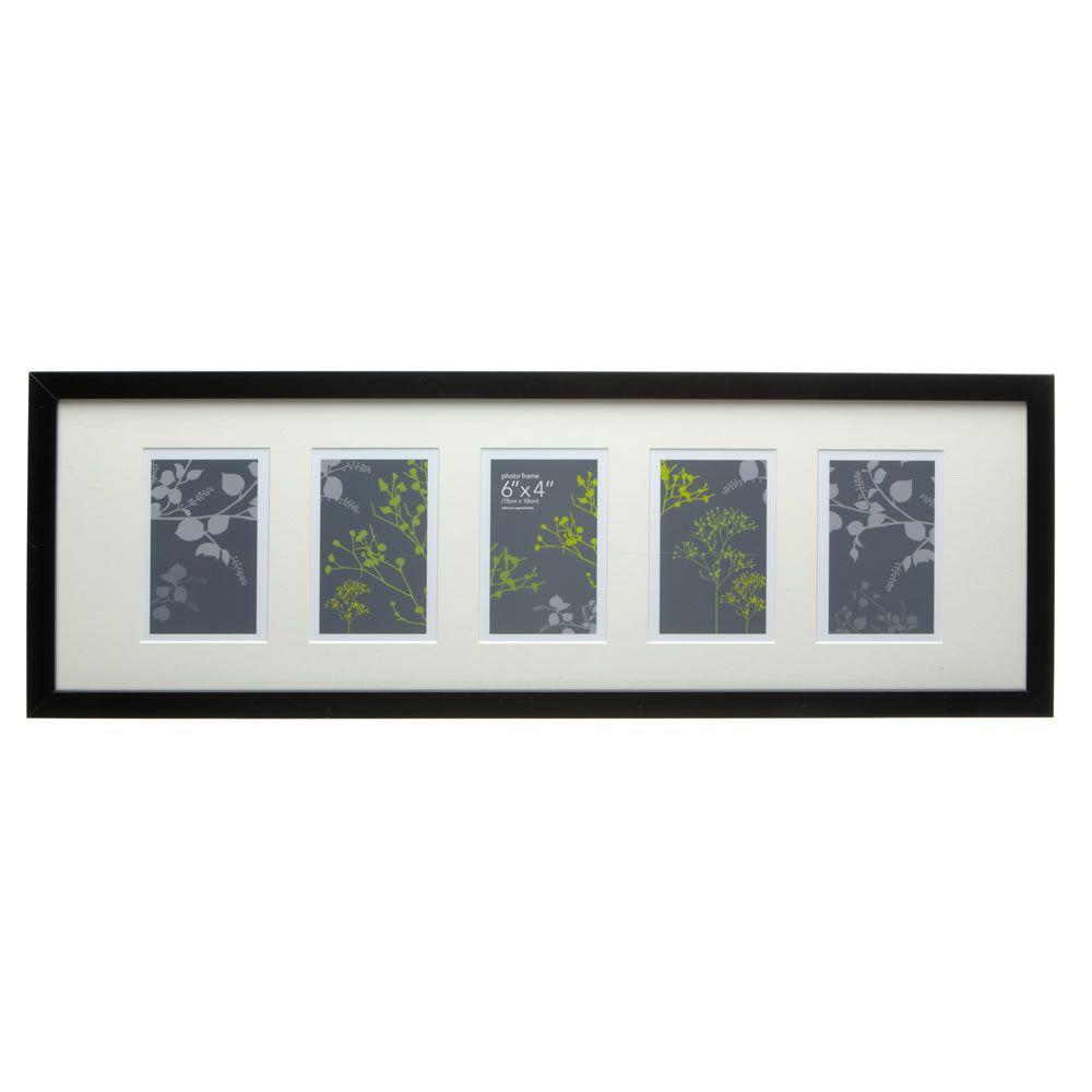 wilko photo frame multi black 6inx4inx5 black frame. Black Bedroom Furniture Sets. Home Design Ideas