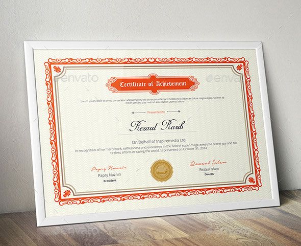 Best Certificate Template Designs  Certificate Templates And