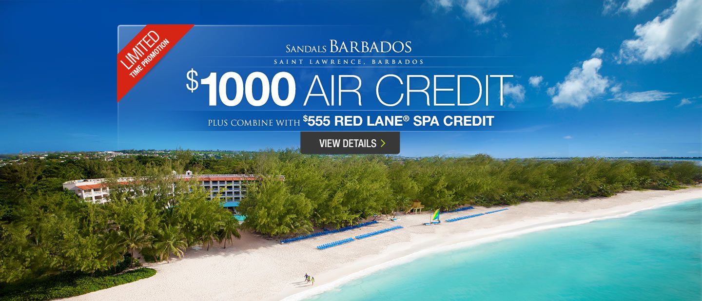Incredible Labor Day Savings For Sandals Barbados All Inclusive - All inclusive caribbean deals