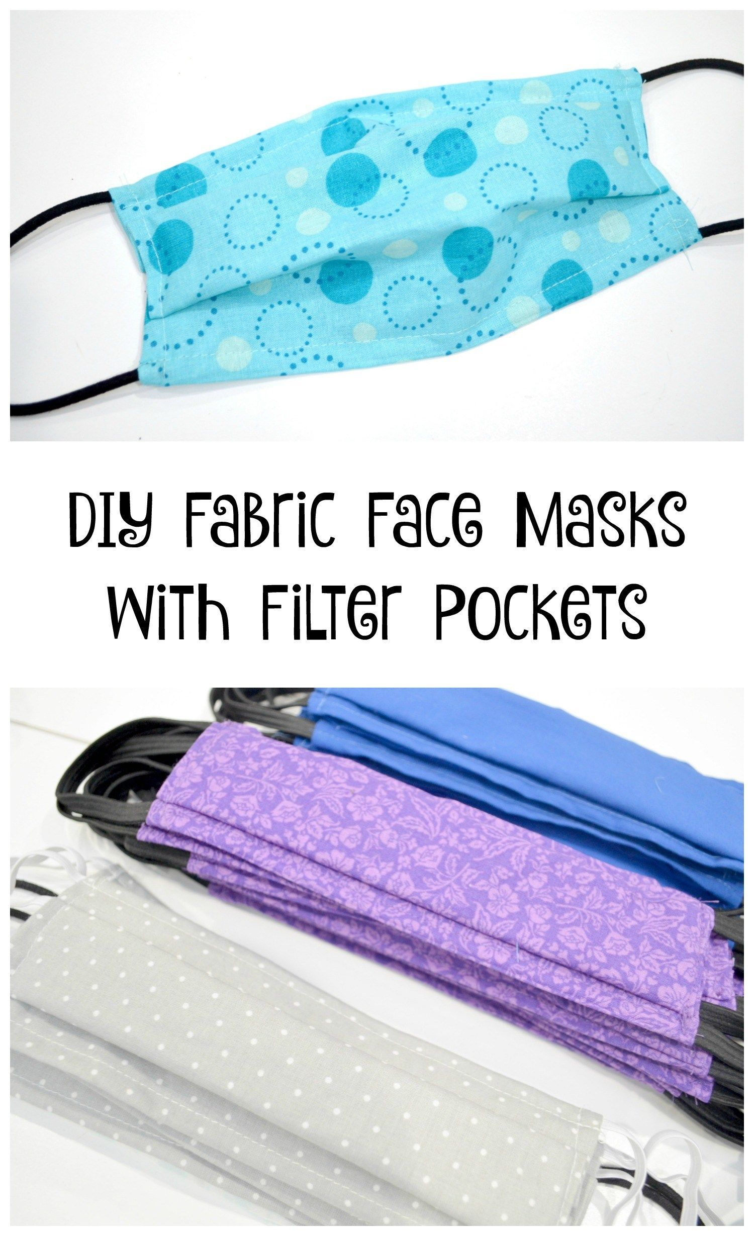 Photo of Easy DIY Face Masks with Filter Pocket