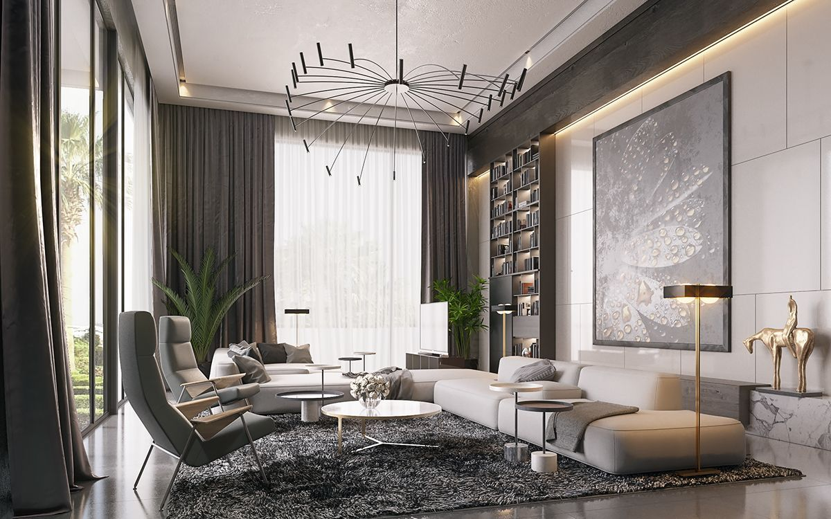 Villa In Middle East On Behance Luxury Living Room Luxury Living Room Design Living Room Diy #tv #in #middle #of #living #room