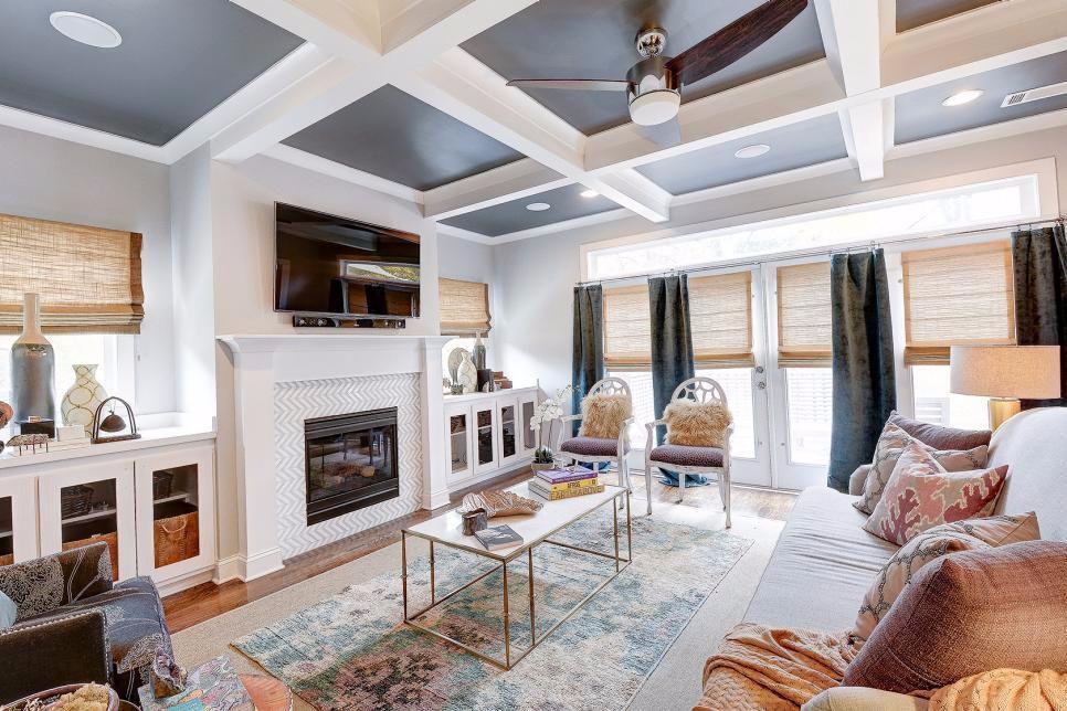 8 Tipe Plafon Yang Paling Umum Digunakan Coffered Ceiling Coffered Ceiling Design Coffered Ceiling Paint