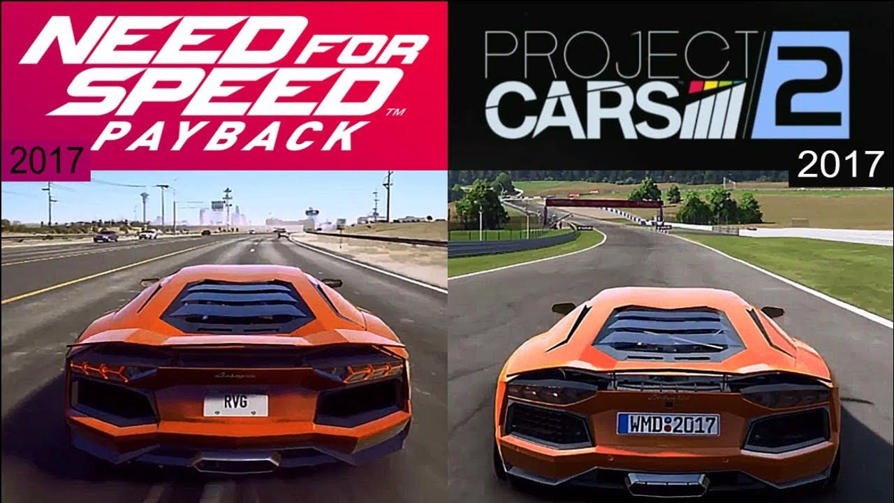 Need For Speed Payback(17) VS Project Cars 2(17