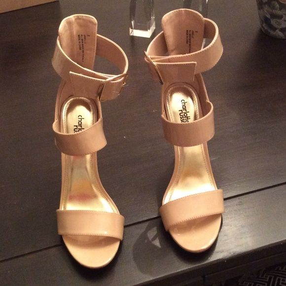 BRAND NEW! Patent leather nude heels! NWT | Patent leather ...