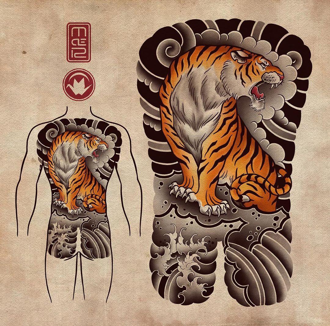 "Roma M De on Instagram: ""available design 🐯 #tattoo #tattoos #tigertattoo #tiger #tora #japanesetattoo #design #drawing #irezumicollective #asian_inkandart…"""