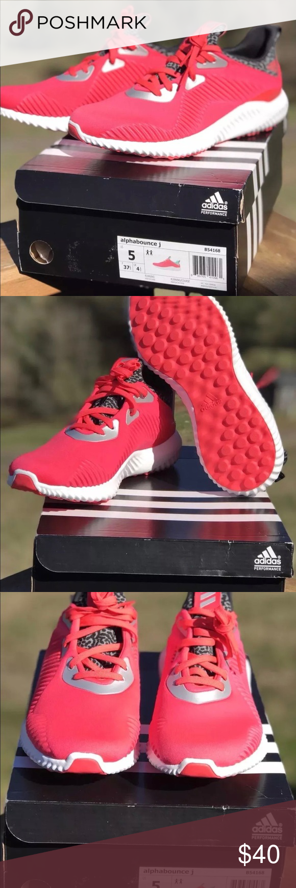 f226a0664ff2d Adidas Alphabounce Youth Running Shoe Size