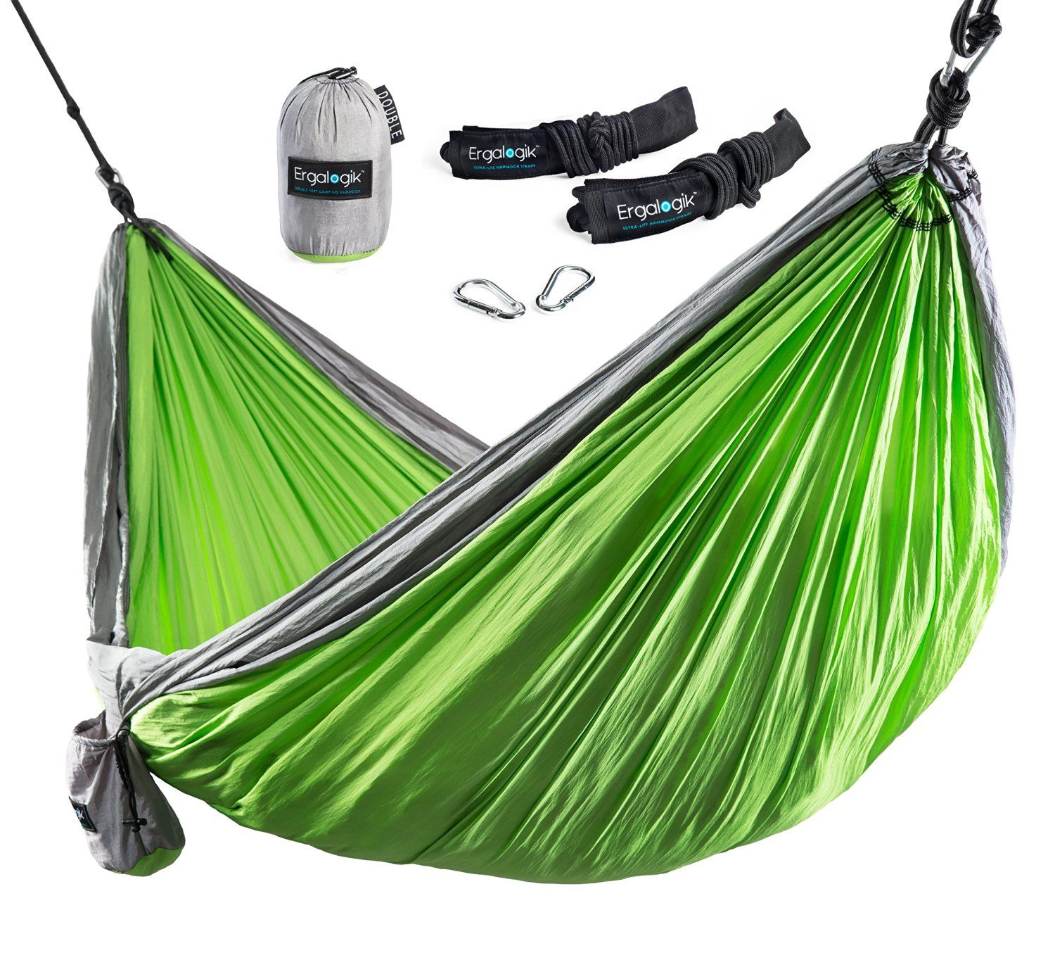 Ergalogik Tree Friendly Double Nest Camping Hammock W Premium Hammock Straps 400lbs Capacity 10 Feet 6 Inches X 6 Feet 6 In Hammock Camping Hammock Outdoor