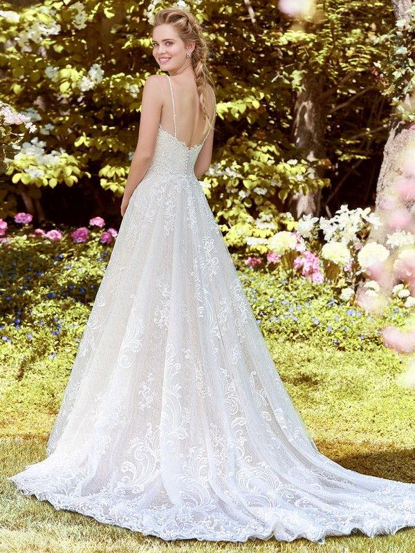 Back of Debbie Wedding Dress with Tulle Train from the Rebecca ...