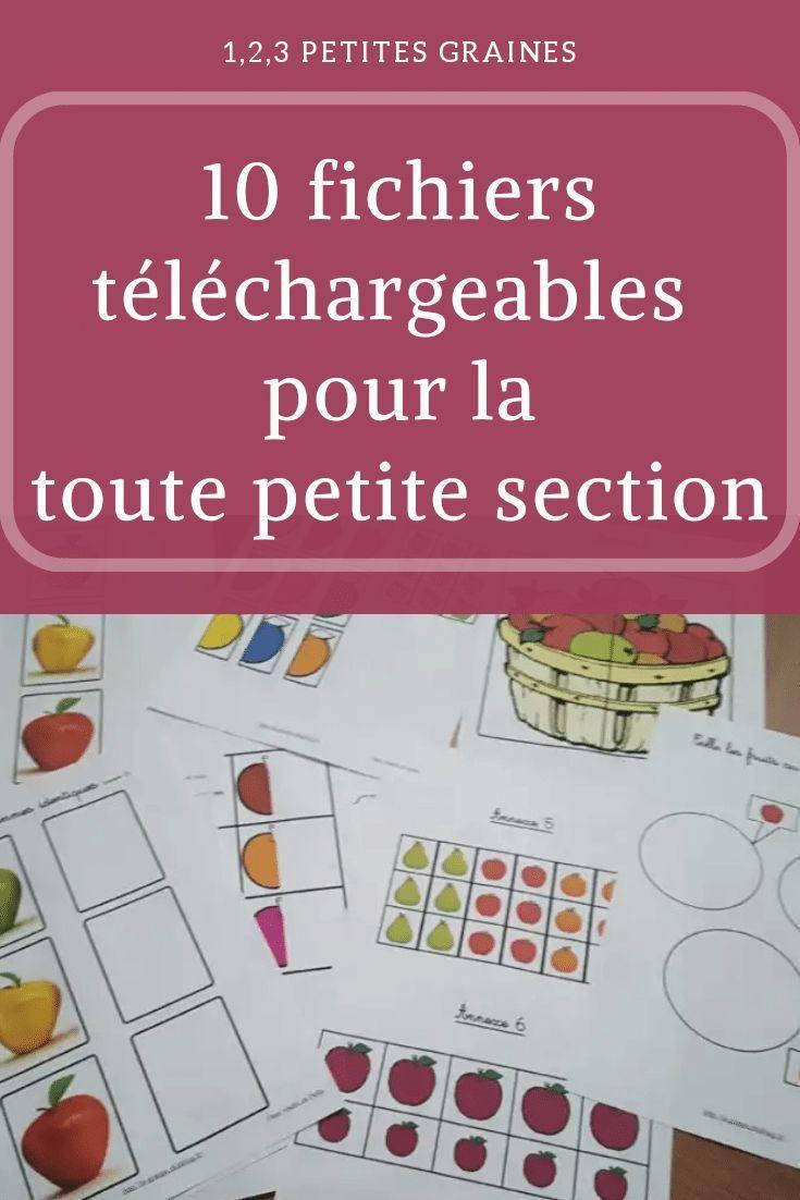 Photo of 10 fichiers téléchargeables toute petite section  Blog
