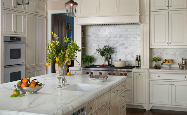 Monday Musing Honed Marble Cream Kitchen Cabinets Grey Kitchen