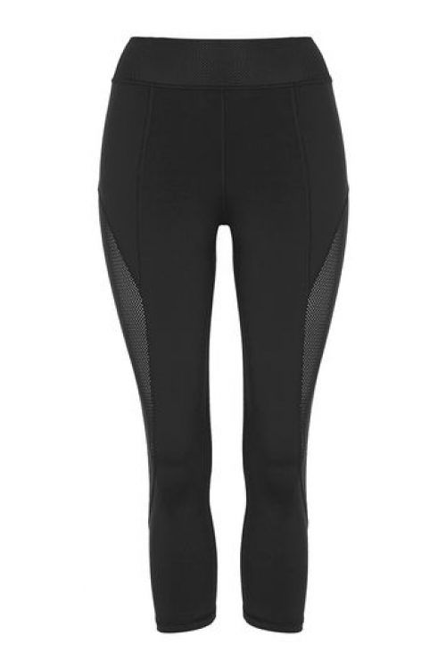 85288a4a1ddeef Womens Mesh Insert 7/8 Leggings by Ivy Park – Black Black, Black Black