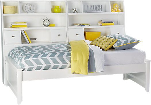Shop For A Ivy League White 5 Pc Twin Bookcase Daybed At Rooms To Go Kids