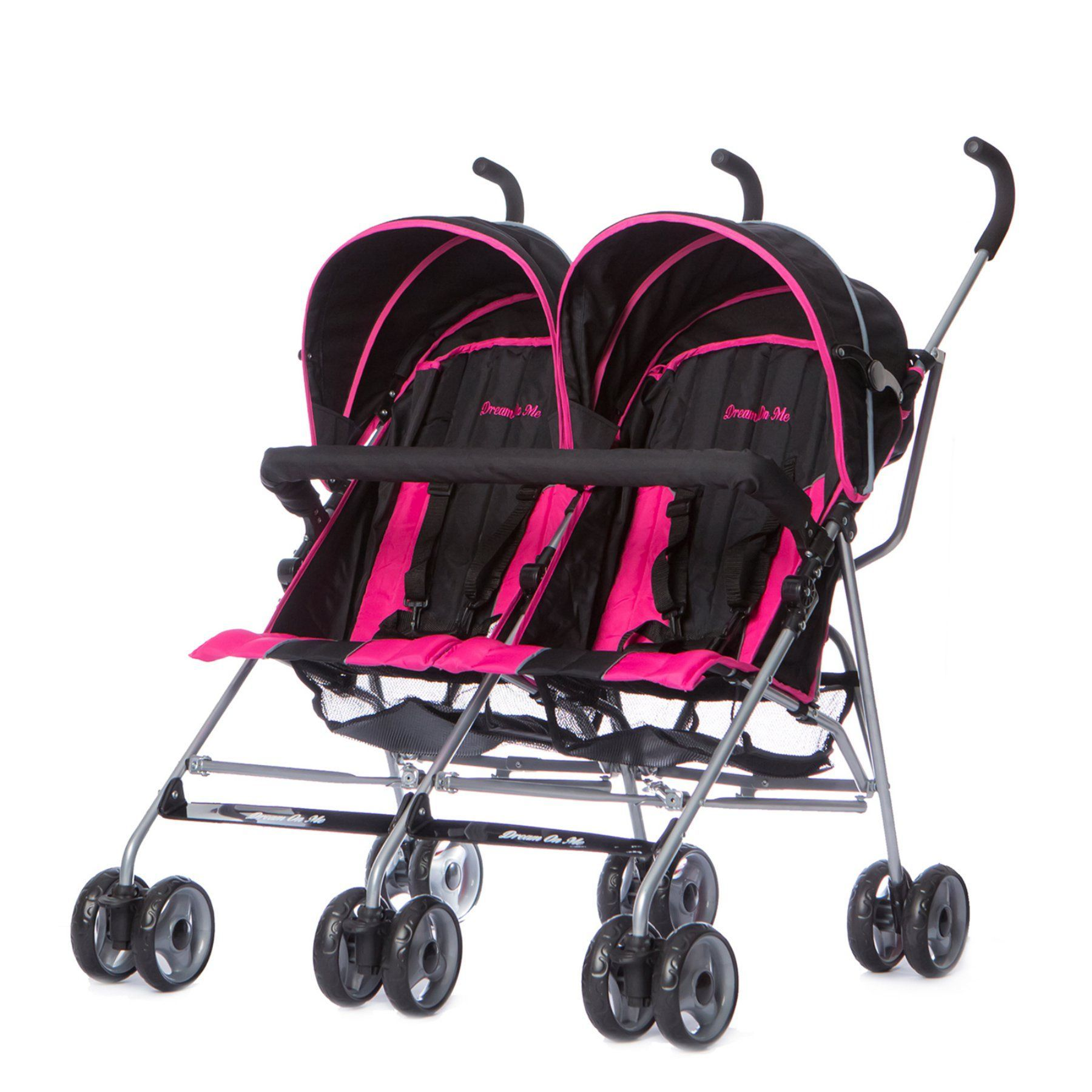 Dream On Me Twin Stroller Deep Pink 447DP Twin