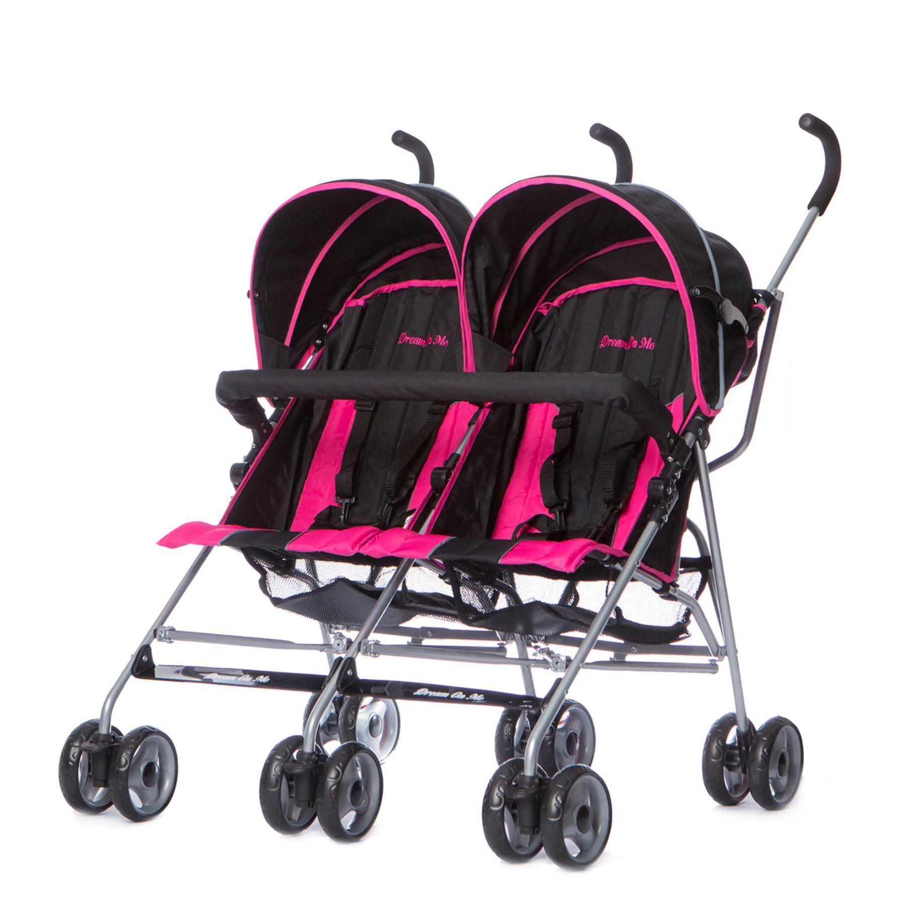 Dream On Me Twin Stroller Deep Pink 447DP Twin