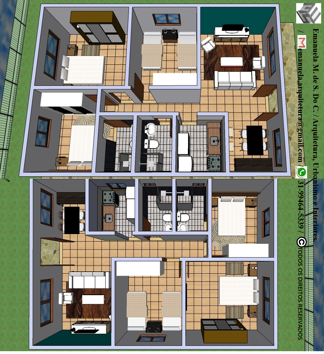 Software Utilizado: SketchUp.