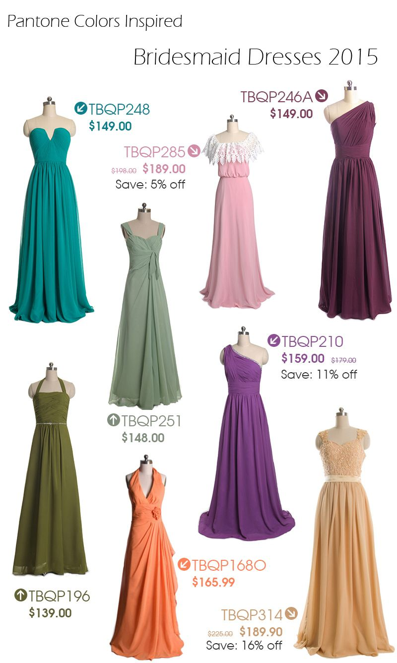 Long & Short Bridesmaid Dresses From $89 in Size 2-30 and 100+ Color