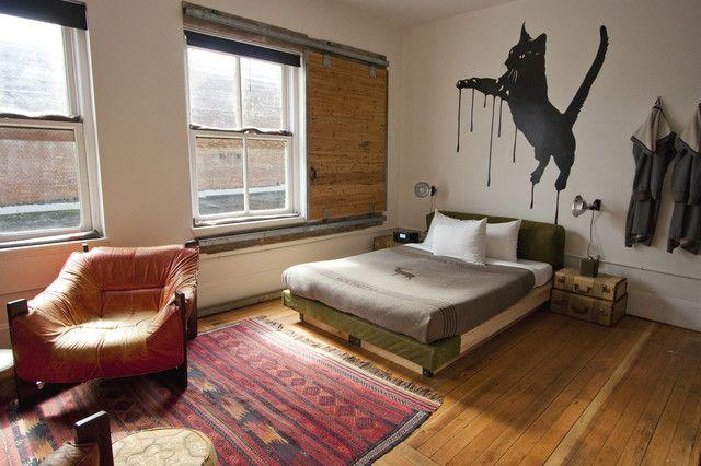 window treatment eclectic bedroom ace hotel portland