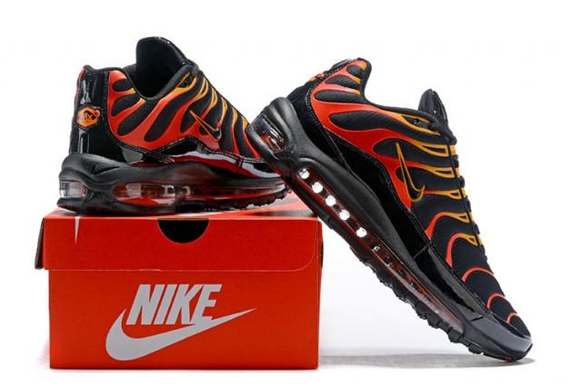 Nike Air Max 97 Plus Tn Men S Running Shoes Black Red Orange