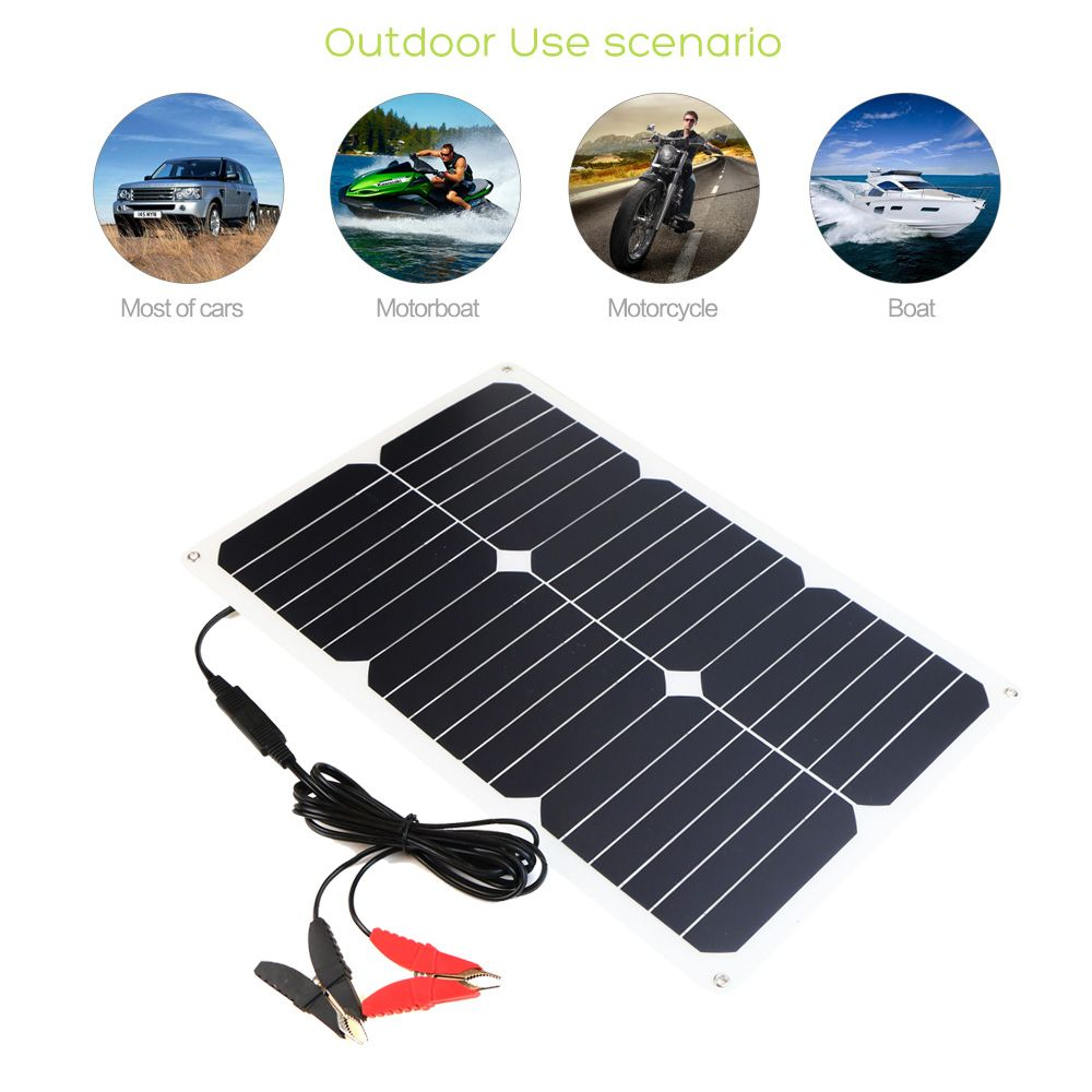 Allpowers 12v 18w Portable Solar Battery Car Charger For Car Battery Automobile Motorcycle Boat 1396678 Solar Panel Charger Solar Battery Charger Car